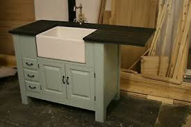 stand alone kitchen sink unit freestanding medium sink unit with overhang for appliance ebay