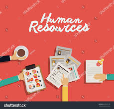 human resources design over red background stock vector 278523128