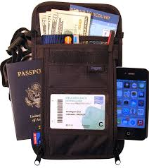 carry on size united amazon com rfid travel wallet largest neck pouch fits any size