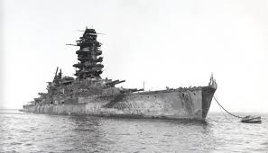 Japanese Navy Flag Hijms Nagato Launched November 9 1919 Was A Battleship Of The