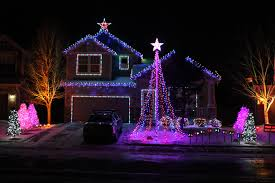 amazing house facade led christmas lights decorating ideas