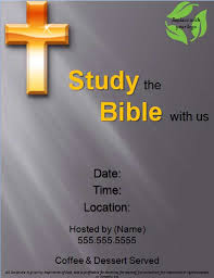 free bible study flyer templates free online flyers