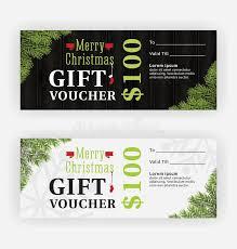 merry christmas gift voucher certificate template design stock