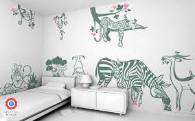 stickers savane chambre bébé stickers animaux savane déco murale chambre enfant theme jungle