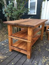 Diy Kitchen Island Pallet Furniture Ideas Simple Carpenter Made Rectangular Open Shelving