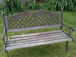 Wrought Iron Bench Wood Slats Restoring An Old Park Bench 3 Steps