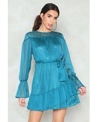 nasty gal drawing a blank dress green in green lyst