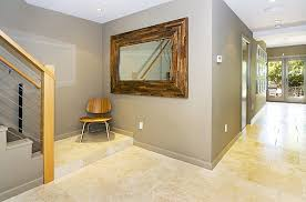Entryway Wall Mirror Interior Perfect Beige Entryway With Gray Wall And Decorative