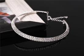 wedding necklace gifts images Rhinestone choker premium brand jewelry wedding jewelry single row jpg