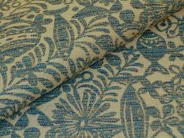 Outdoor Fabric Fish Pattern Outdoor Fabric In Blue