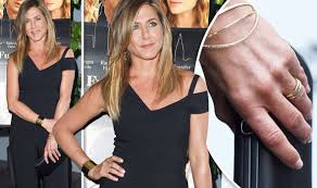aniston wedding ring aniston flaunts ring for time after