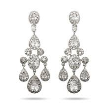 chandeliers earrings carpet style teardrop and oval cz chandelier earrings eve u0027s