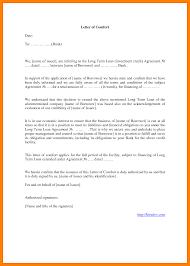 letter of comfort format