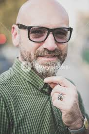 middle age hairstyles for men handsome middle aged man in the city royalty free stock image