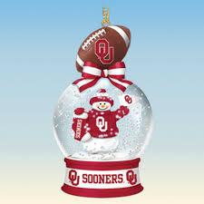 oklahoma sooners snow globe ornaments the danbury mint