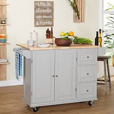 kitchen island drop leaf amazon com kitchen islands on wheels drop leaf utility cart