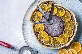 clementine cuisine clementine and chestnut chocolate tart tesco food
