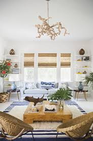 Coastal Cottage Living Rooms by One Room Inspiration Classic Beach Cottage In Blue White
