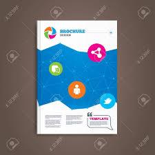 social media brochure template brochure or flyer design social media icons chat speech