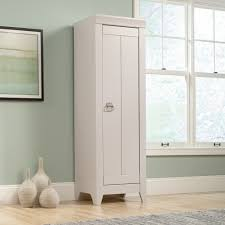 White Storage Cabinet Furniture White Painted Oak Bathroom Storage Cabinet With Frosted
