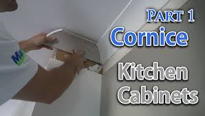 Norm Abram Kitchen Cabinets Install Cornice Above Kitchen Cupboards Part One Youtube