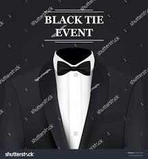 Event Invitation Card Black Tie Event Invitation Card Vector Stock Vector 542271940