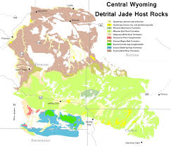 Production Map Gem Quality Mining Countries Wyoming State Geological Survey