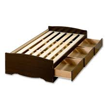 Twin Wooden Bed by Twin Platform Bed With Storage Drawers Inspirations Including