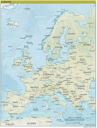Flags Of European Countries Europe Physical Map Freeworldmapsnet Physical Map Of Europe