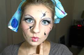 halloween face decals cracked doll halloween makeup youtube