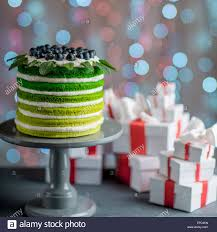sponge happy birthday cake with mascarpone and grapes with on