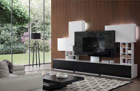 Home Entertainment Furniture Modern Black And White Entertainment Center