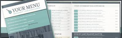 menu templates