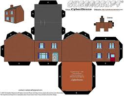 printable model house template house building paper template free printable papercraft templates