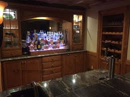 home bar shelves cool sci fi themed home bar w cherry wood shelves