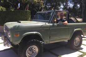 jeep bronco white celebrity drive gsn host mike richards motor trend