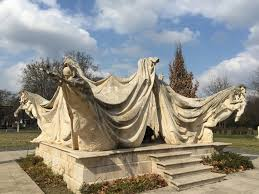 cemetery statues creepy girl travels
