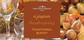 traditional thanksgiving buffet at high peaks resort lake placid