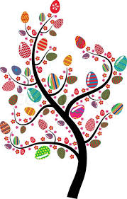 easter egg tree easter egg tree stock vector colourbox