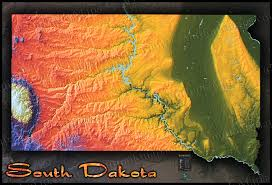 Minnesota Topographic Map South Dakota Topography Map Physical Terrain In Bold Colors