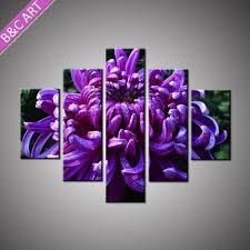 indian home decor items village landscape purple flower wall