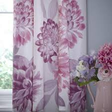 Plum Flower Curtains Plum Lucy Thermal Pencil Pleat Curtains Dunelm Mill For The
