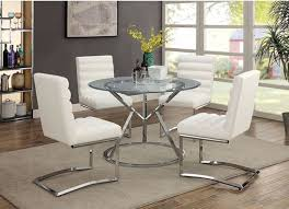 Furniture Of America Livada I White Dining Room Table Set CMRT - White dining room table set