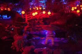 interesting ideas enchanted forest christmas lights garden of rock