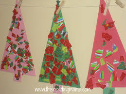 torn wrapping paper christmas trees
