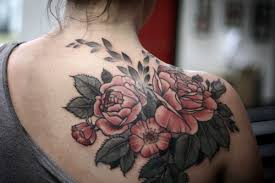tattoos color tattoo back tattoo rose tattoo pink roses tattooed