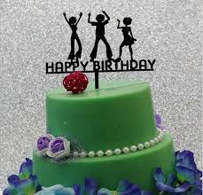 new arrival happy birthday cake topper black acrylic cake topper