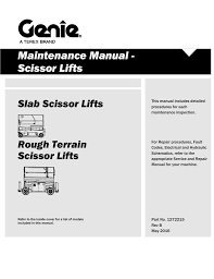 maintenance manual scissor lifts