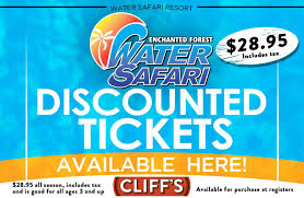 get your discounted water safari tickets cliff u0027s local market