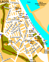 lagos city map lagos city map lagos portugal mappery